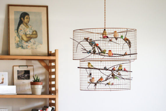 Double Birdcage Pendant