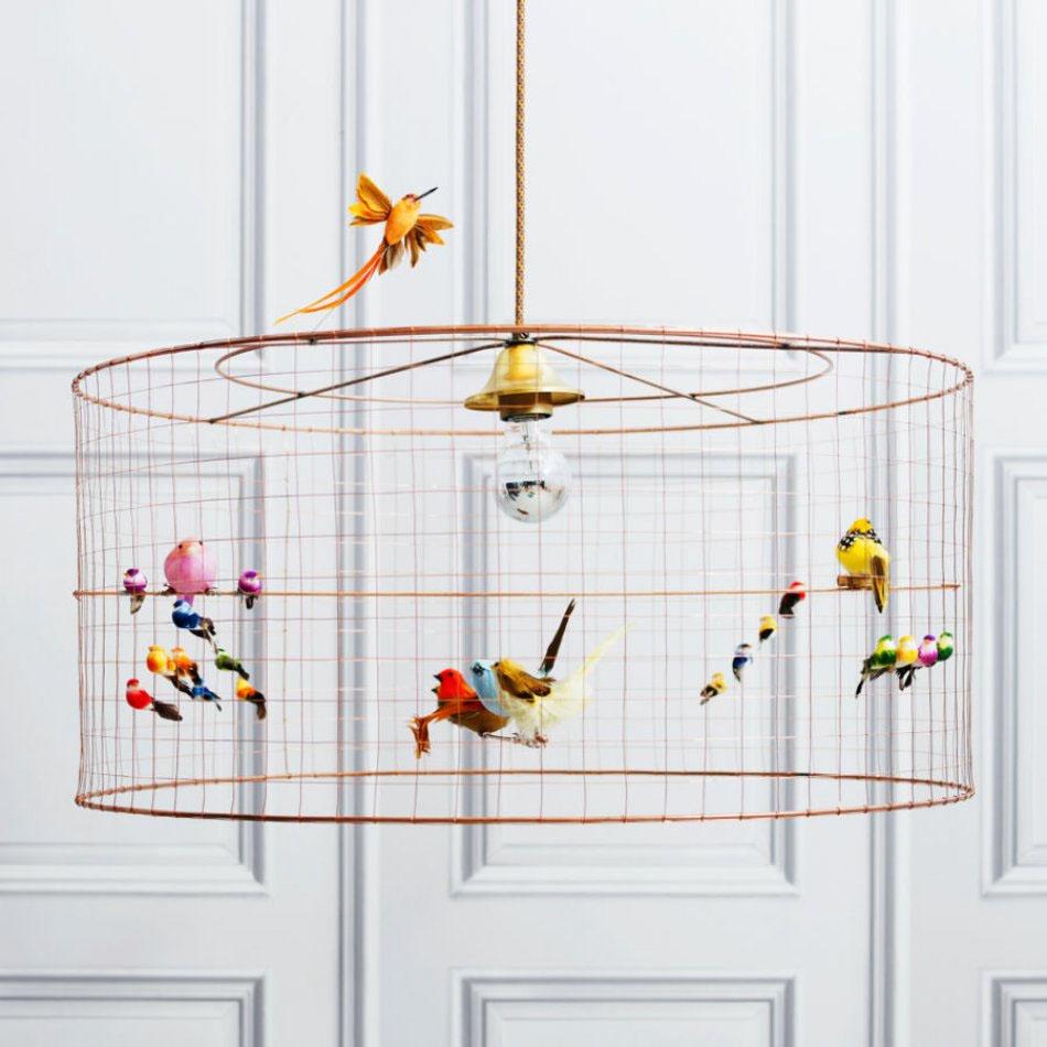 Volières Medium Bird Cage Chandelier via Graham & Green.