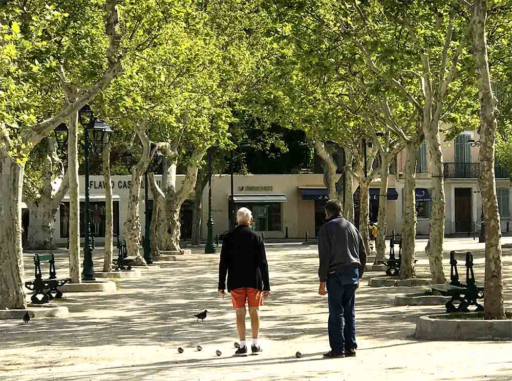 Locals playing pétanque in Place des Lices, SaintTropez.