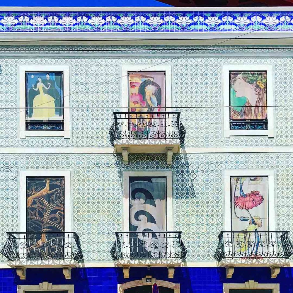 These 'Azulejo' tiled buildings are typical in Lisbon, and are so distinctly Portuguese.