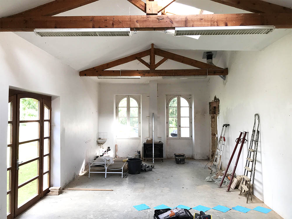The 'studio' space that will become our orangerie.