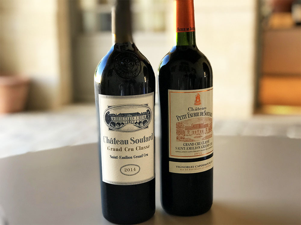 The two special wines we tasted at  Chateau Soutard .