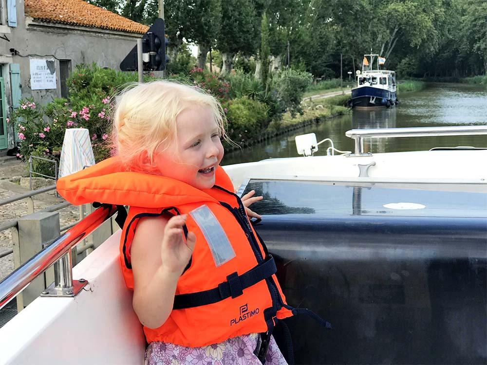 Rosie enjoying life on board.
