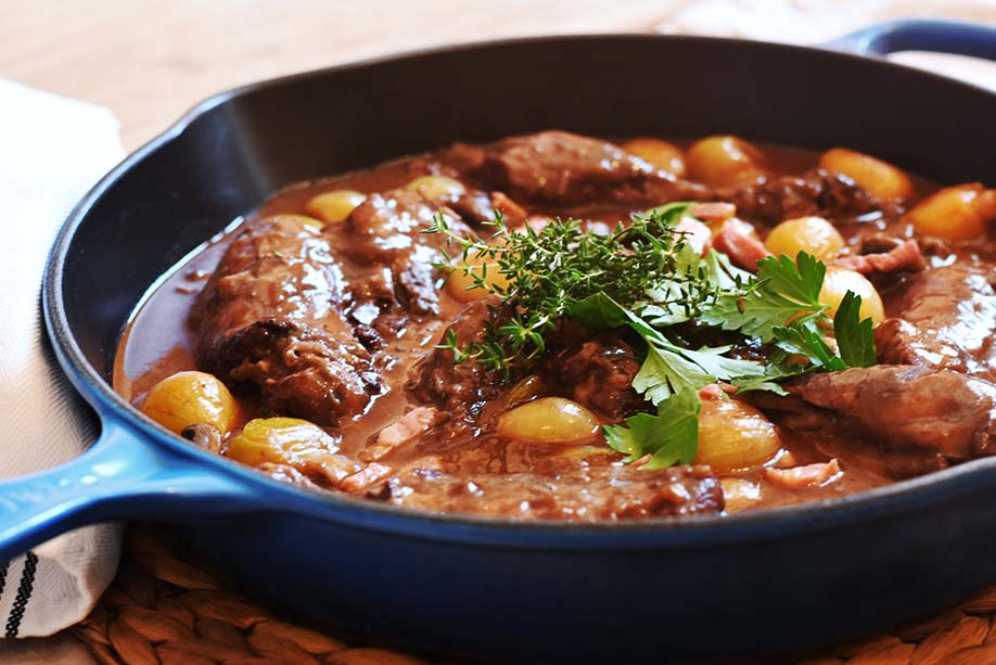 Embracing French classic cooking. This  Coq au Vin  is worth the effort!