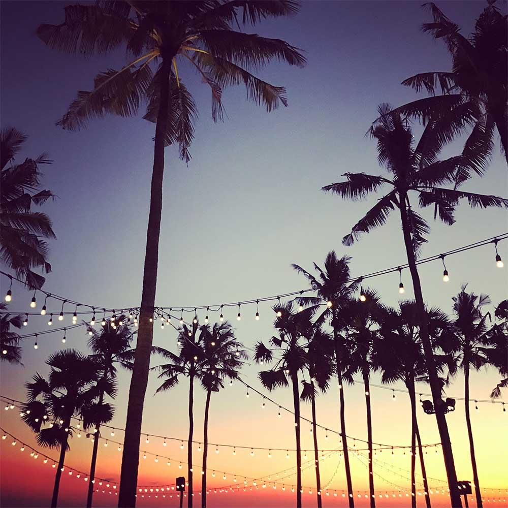 Sunset over Berawa Beach.