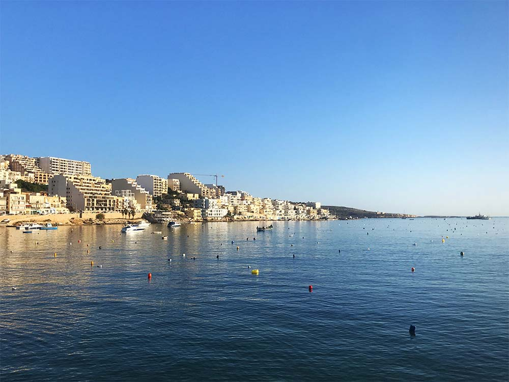 You find spectacular sea views like this all over Malta.