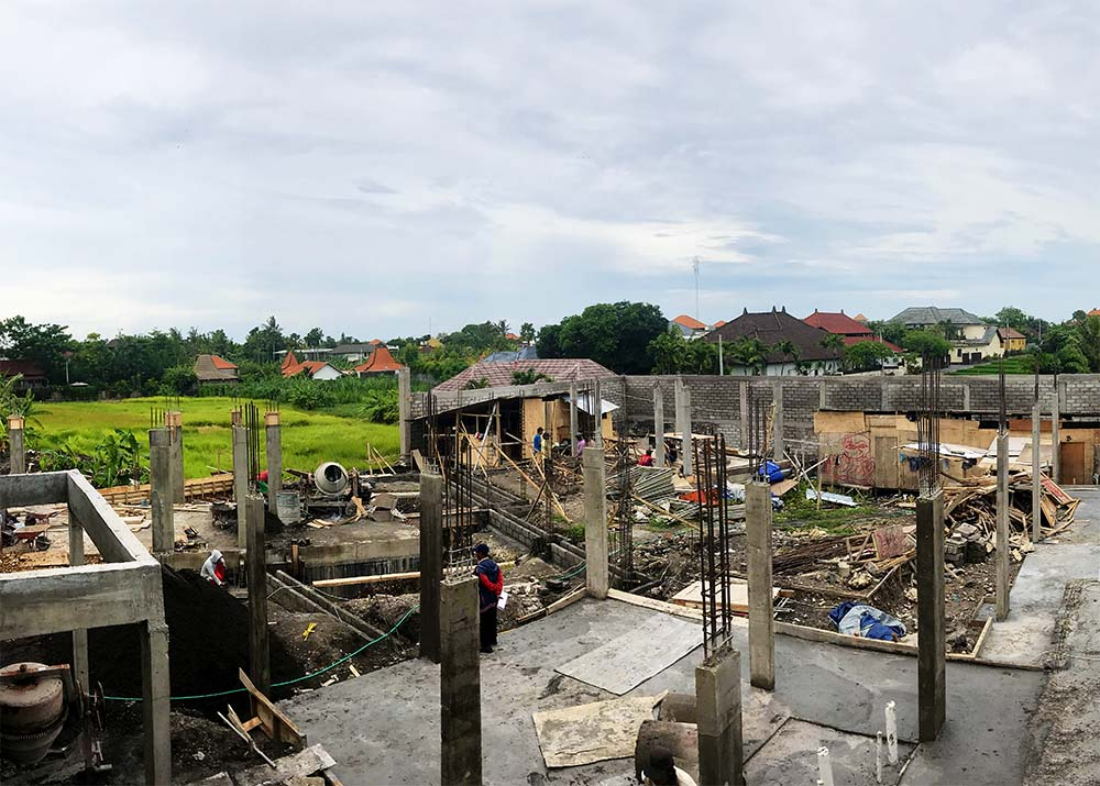 Our home in Bali is going up!