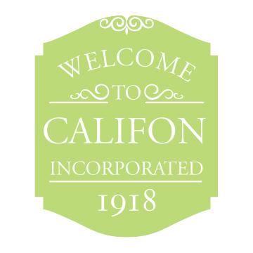 Califon Road Sign