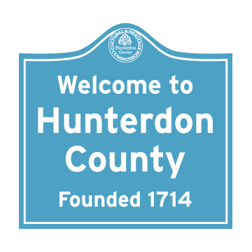 Hunterdon Road Sign