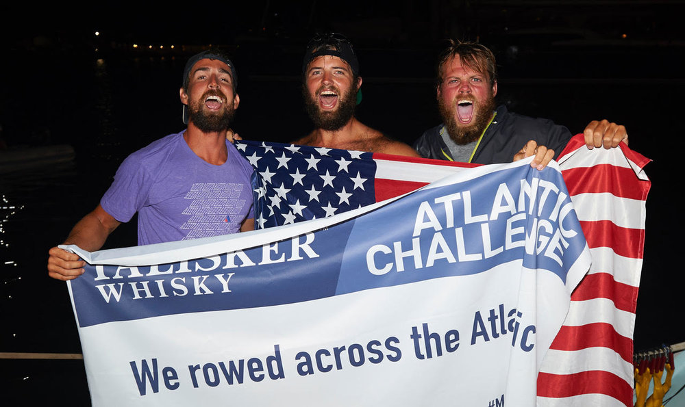 David (left) and his teammates that completed the 3000 mile row.