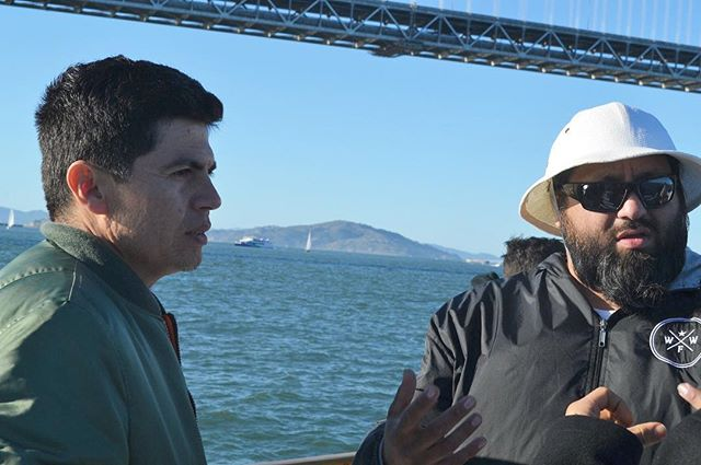 Sunny day on the bay with @wfwp_oakland_ on Token's 1st #cannabis yacht tour this February