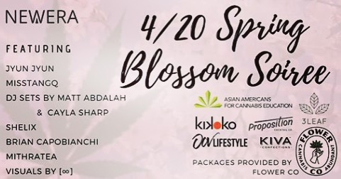 Don't miss the hottest event on the highest day of the year. Join us on 4/20 for an evening filled with flowers, fun, festivities, and some funky-funky dance moves at the newly remodeled and oh-so-fresh Kabuki Hotel in Japantown, #SanFrancisco. Whether you are new to healing plants or have been close acquaintances for a long time, come celebrate their beauty and bounty in celebration of life with @neweratribe 🦋🥳