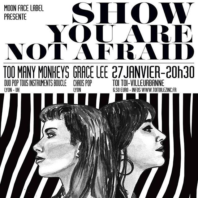 Ce soir 20h30 au @toitoilezinc (Villeurbanne) En co-plateau avec Grace Lee !! #live #music #lyon #concert #gig #sortiralyon #moonfacekabel #toomanymonkeys #pop #folk #graceleetheband