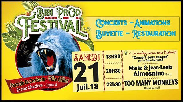 ☀ Prochain concert pour le Bibi Prod festival ☀ Ce sera au Parc de la Cerisaie ^^ #toomanymonkeys #band #duo #music #luon #uk #bibiprodfestival #festival #summerfest #parcchaziere