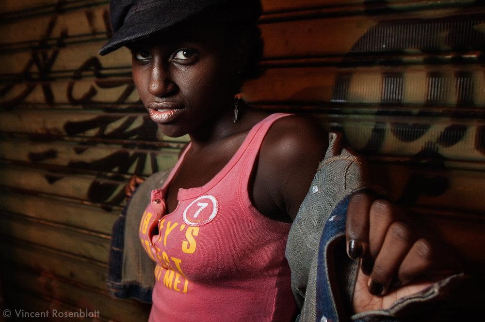 Fabricia, 12 , at the Baile Charme Hip Hop in Nilopolis, Rio de Janeiro..