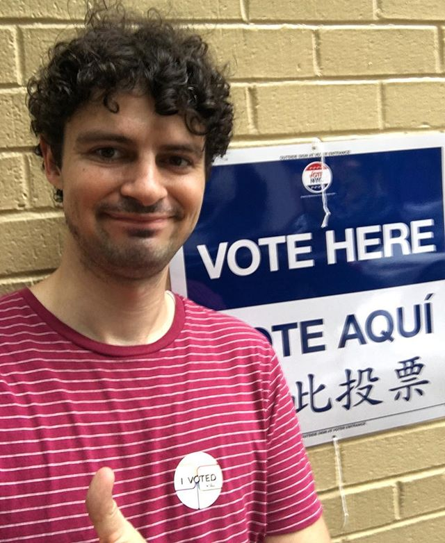 Hey New York; get out the vote! #vote
