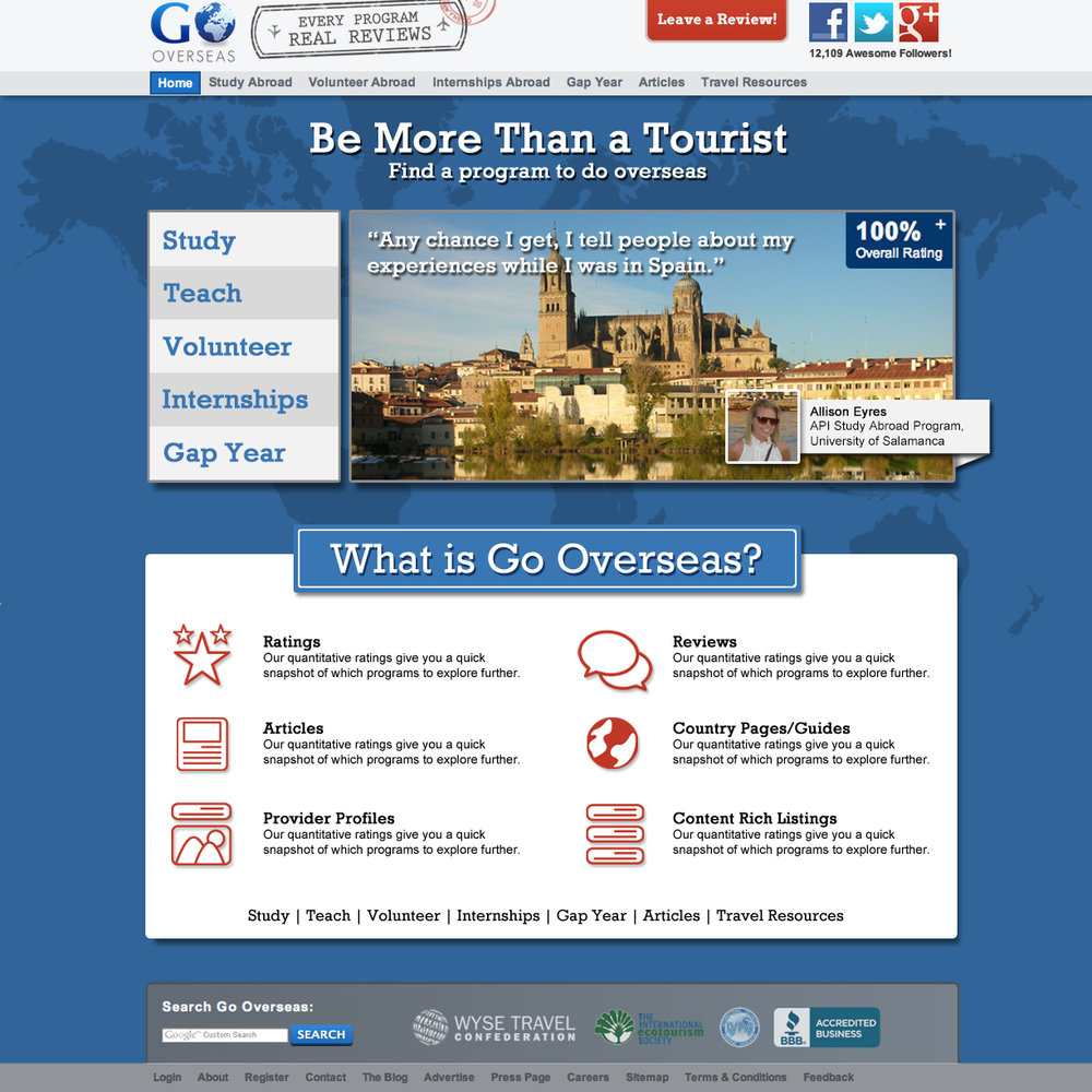 Homepage concept, October 2012