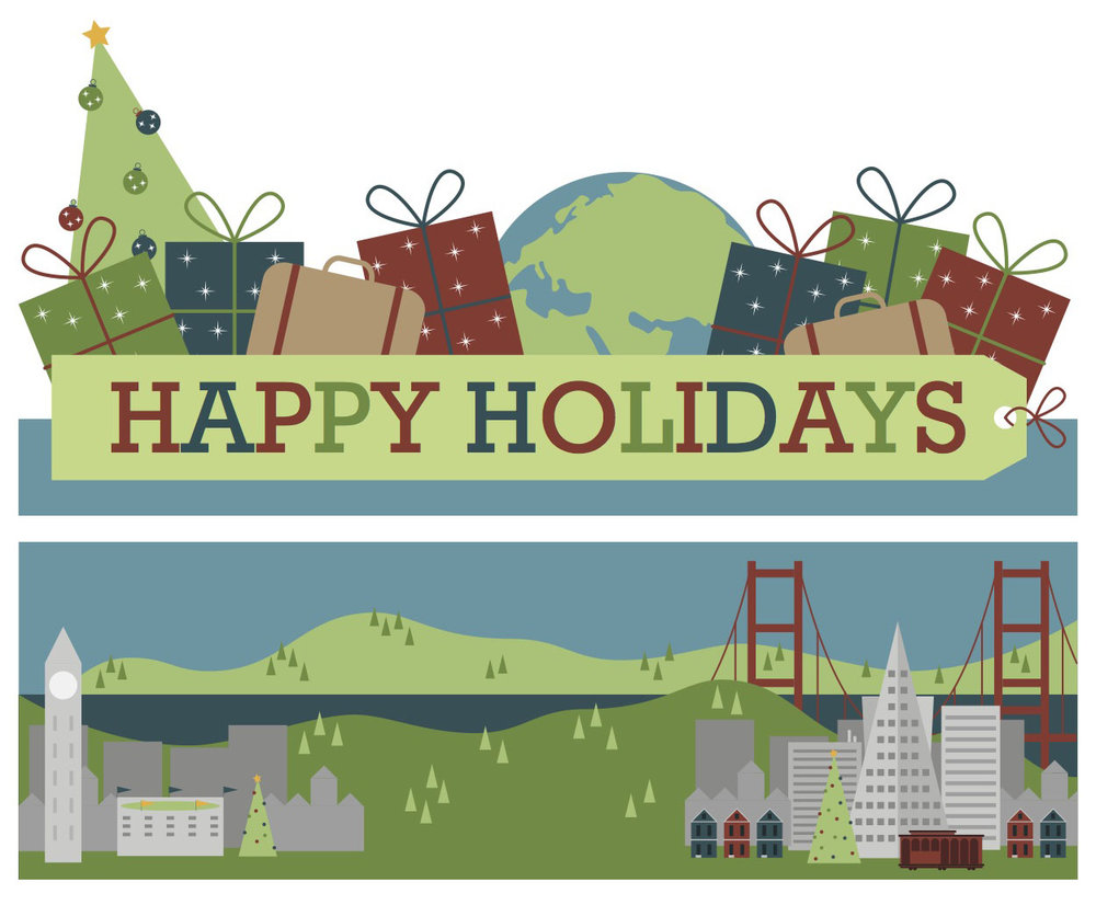 Holiday card graphics, December 2012