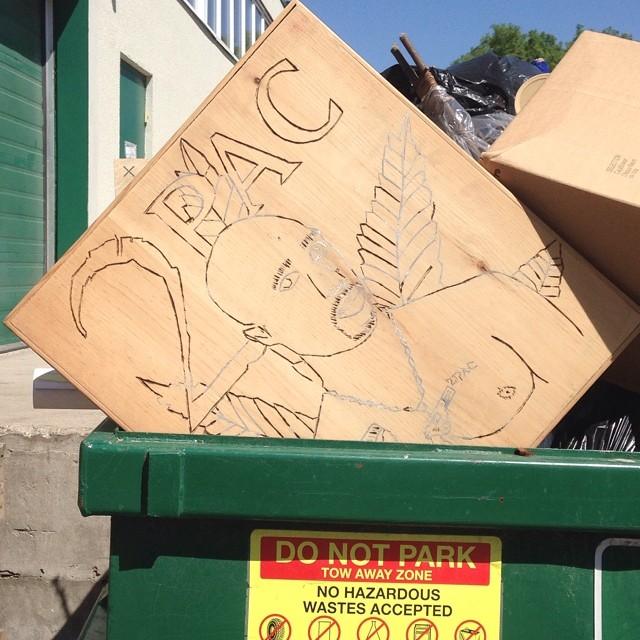 Dumpster art. #2pac