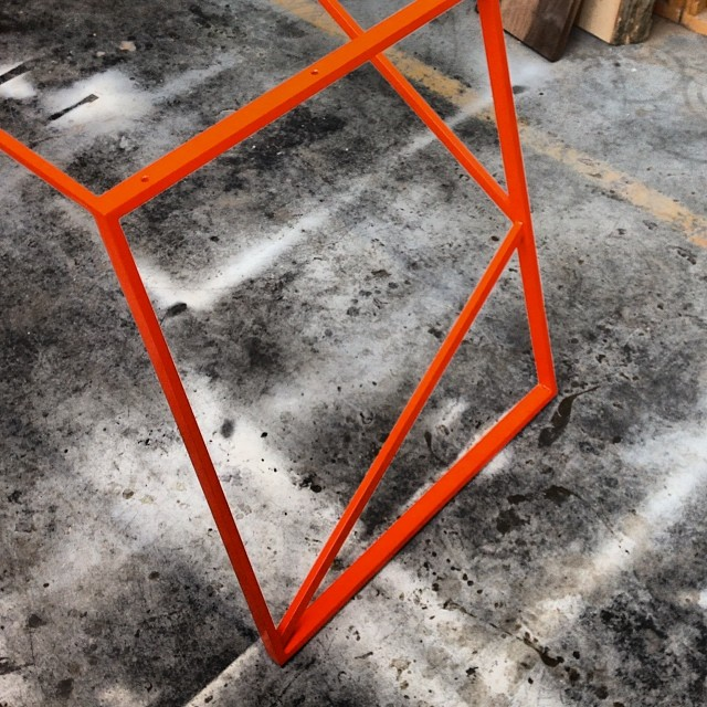 Come see the whole thing one week from today at #upper751 for #todo14. #handmade #metalwork #furniture #toronto