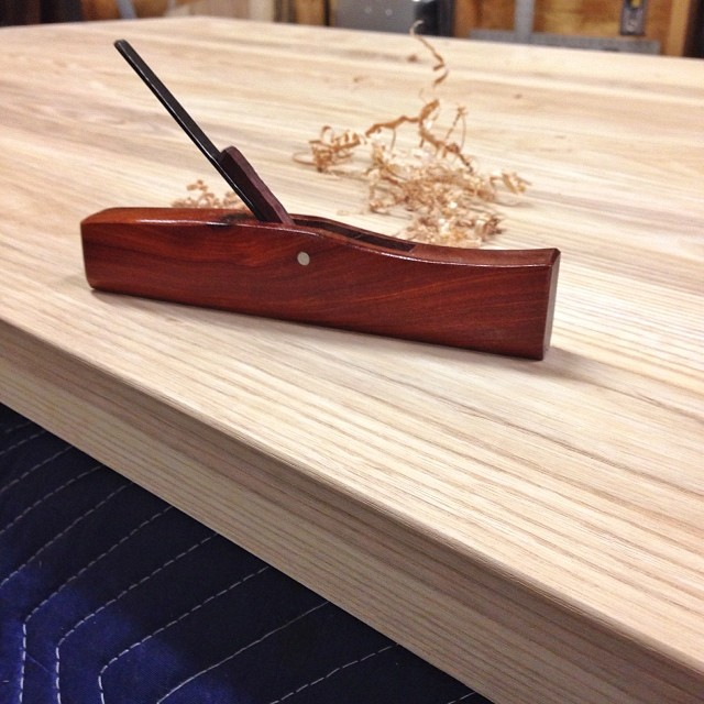 Little moulding plane for rounding edges… I'll take this over a round over bit and a router any day. #woodworking