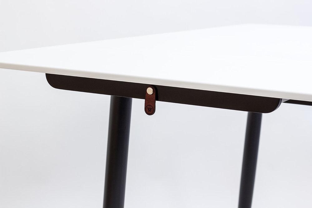 Maple + Corian Drop Leaf Table