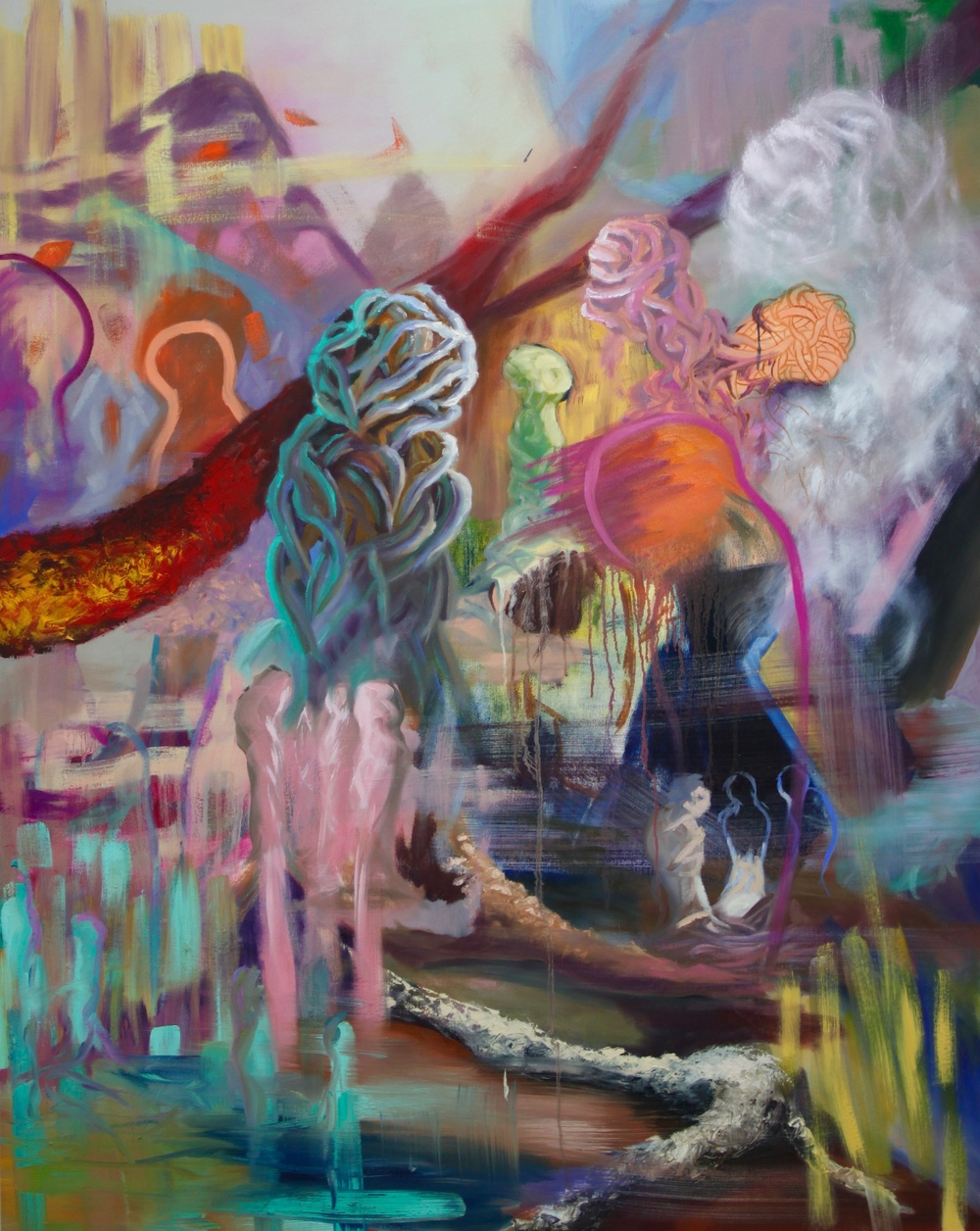 Entangled: 1   Oil Paint on Canvas  48x60 inches  2015