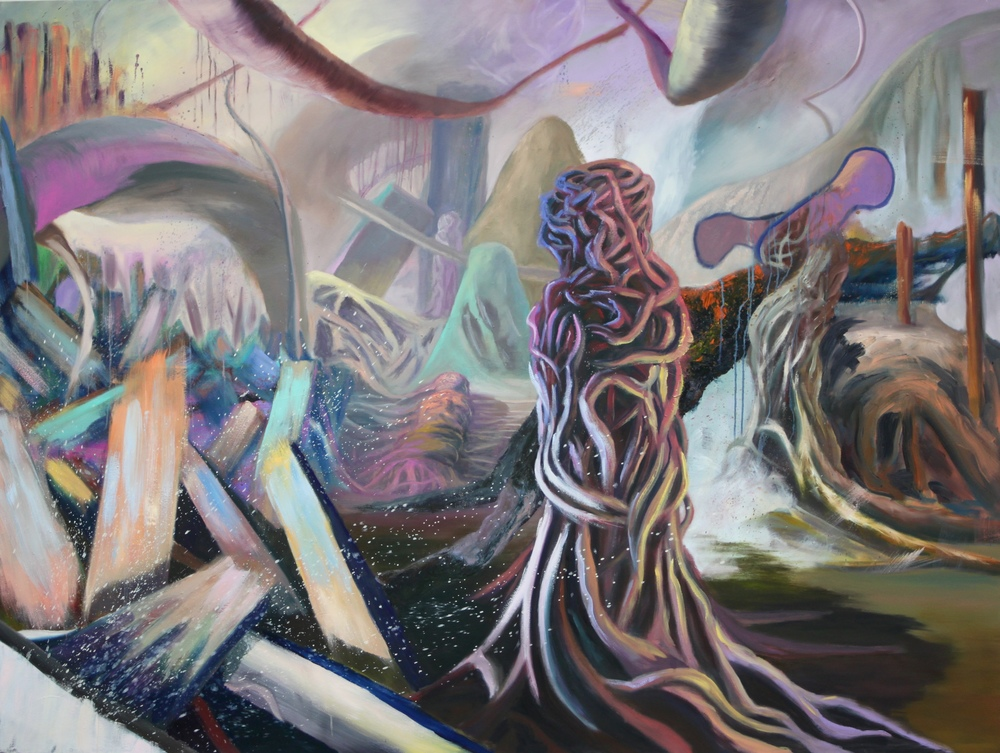 Entangled: 3   Oil Paint on Canvas  72x96 inches  2015