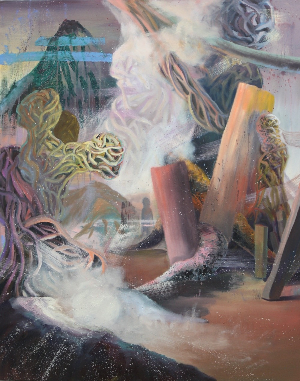 Entangled: 5   Oil Paint on Canvas  48x60 inches  2015