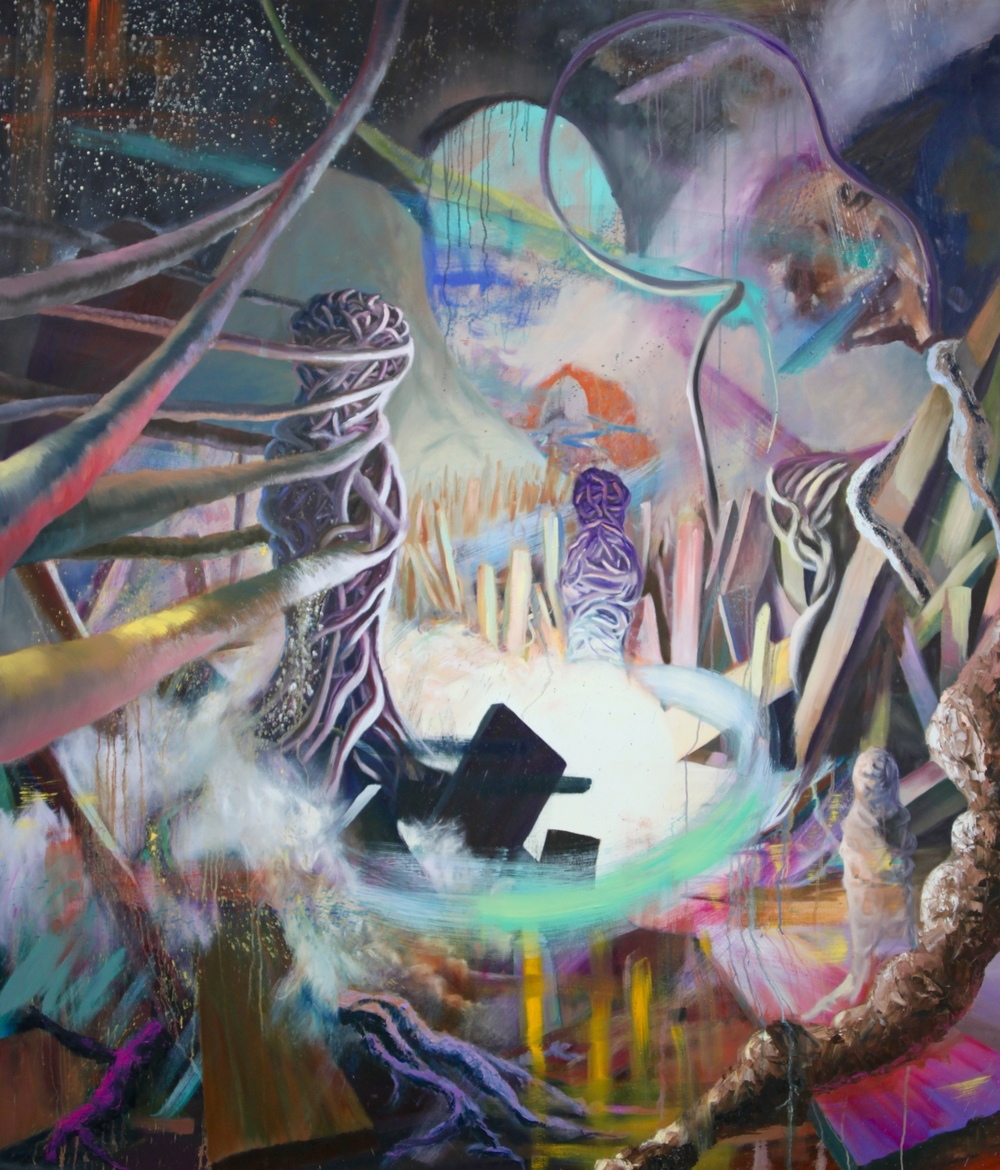 Entangled: 6   Oil Paint on Canvas  72x84 inches  2015