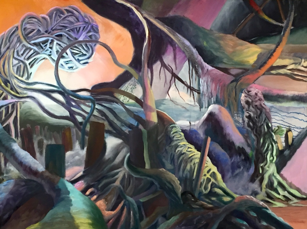 Entangled: 10   Oil Paint on Canvas  36x48 inches  2016