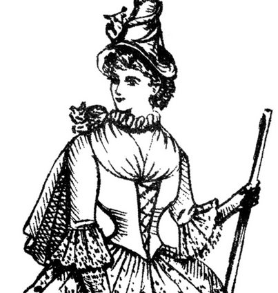 A Victorian Witch Costume