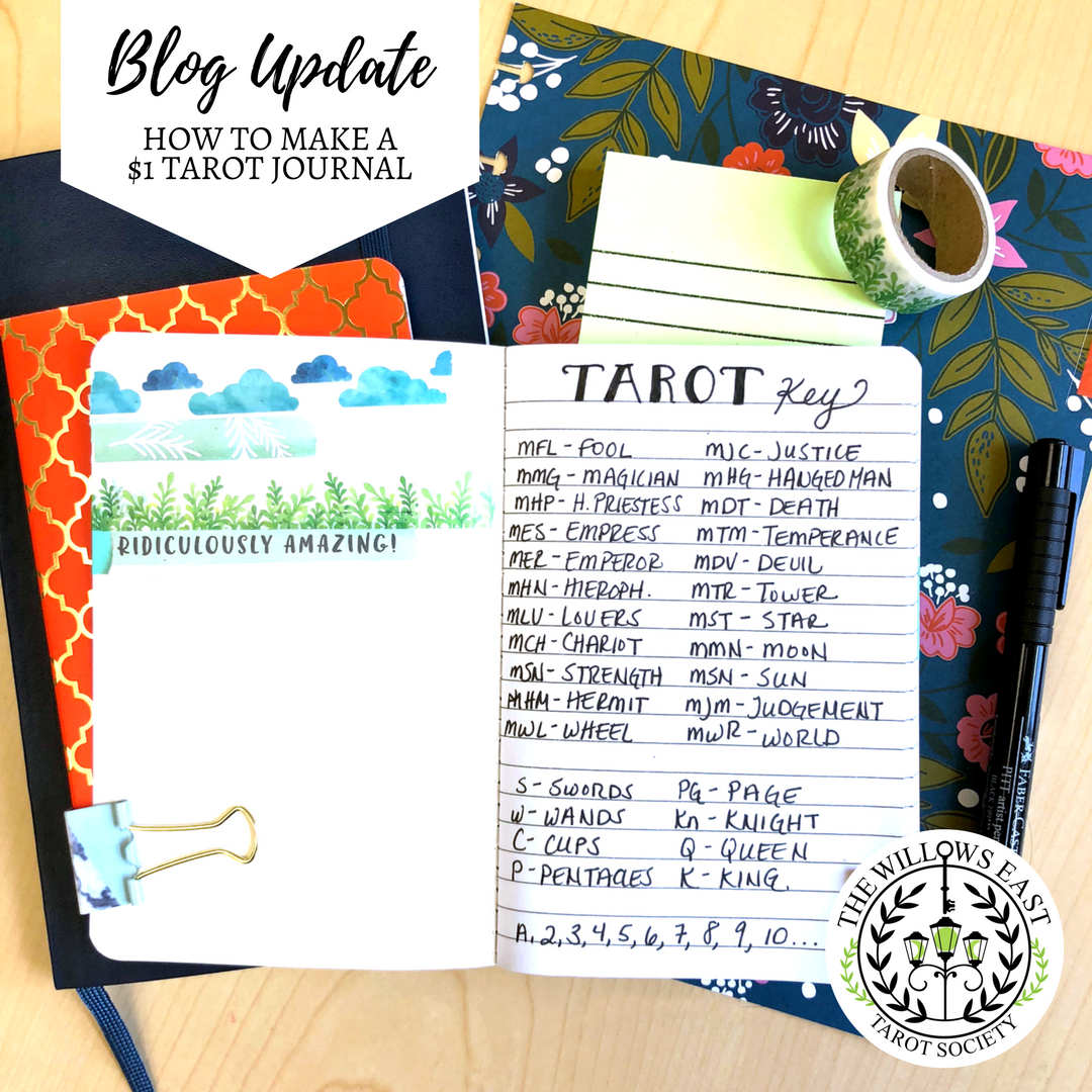 How to Make a $1 Tarot Journal — Willows East