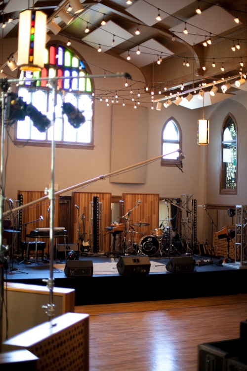 Setting the stage for Doxology Album Live Recording.