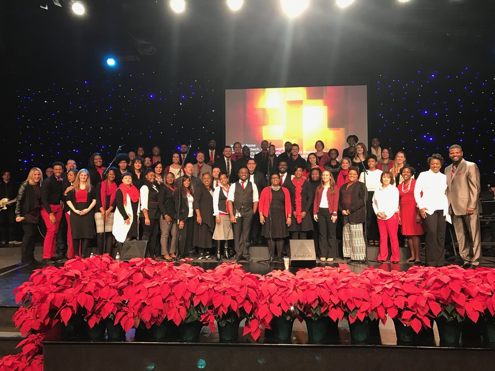 "Pictured: Bethel World Worship Choir, U.S.A. ""If I could describe in one word the worship at Bethel World Outreach Church, I would say ""unified"". This brings a lot of other powerful words to mind that also describe Bethel World Worship! To God be the all the glory!""  -Pastor Will Smith II"