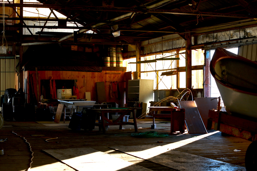 Inside the old Orca Cannery
