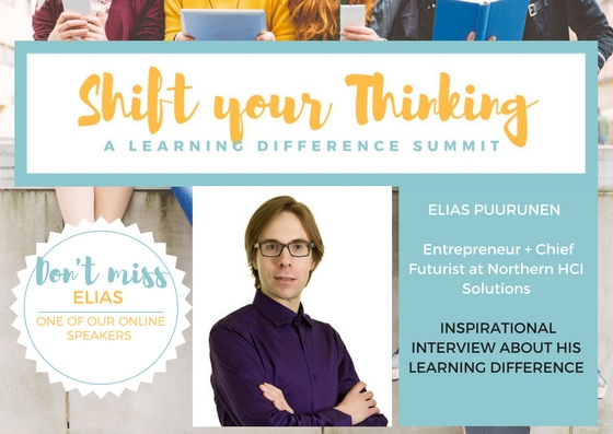 Elias Puurunen is an inspirational speaker as he offers his experiences with accommodations, advocacy and what he hopes will change in the future. Listen to him talk about his learning difference experience in the Video Package for May 13th Shift Your Thinking LD Summit. www.shiftyourthinkingld.com -
