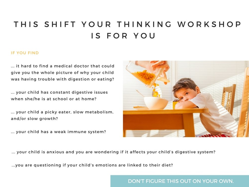 DIGESTION AND YOUR CHILD'S HEALTH WORKSHOP