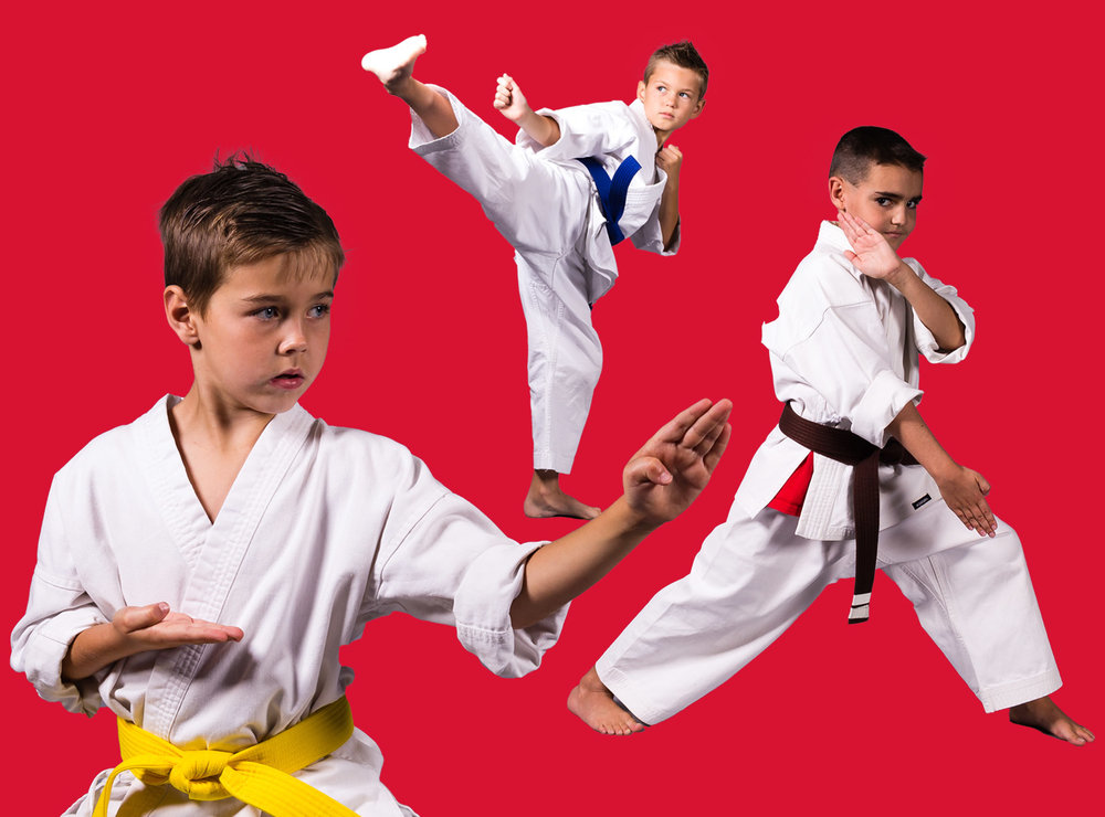 Intermediate and Advance students from the American Karate Youth Karate program.