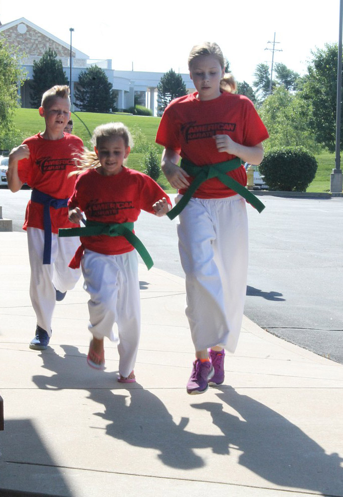 American Karate Summer Camp 2015 - running