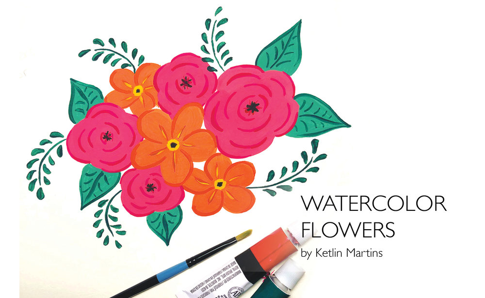 Watercolor Flowers: Create Beautiful Illustrative Floral Arrangements