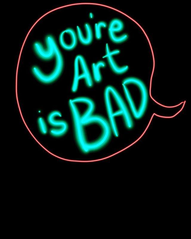#neon #illustration #ipadpencil #art #youcantspell #youreyour