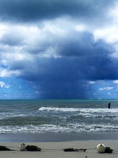 An ocean storm