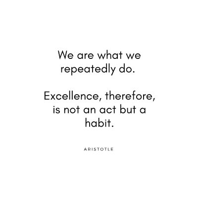 We are what we repeatedly do. Excellence, therefore, is not an act but a habit..jpg
