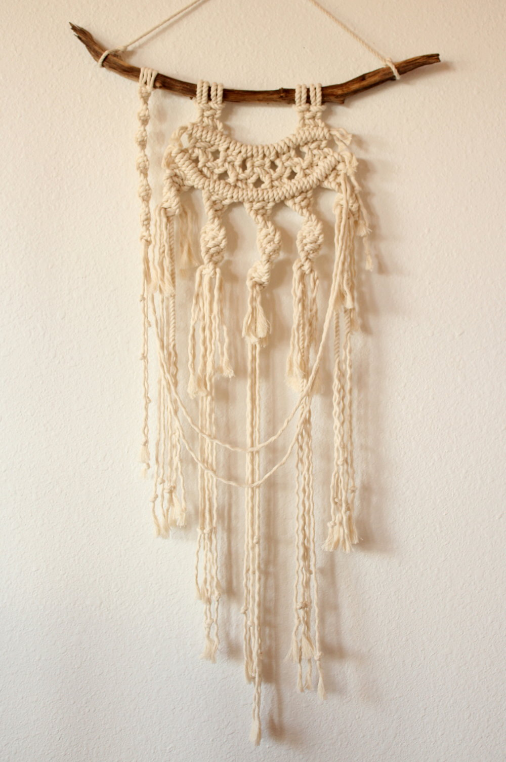 BURST INTO BLOSSOM MACRAME WALL HANGING