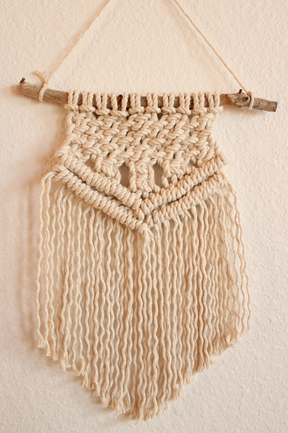 TAKE HEART MACRAME WALL HANGING