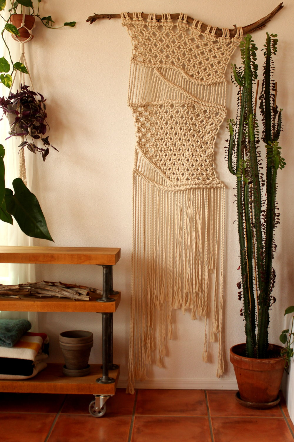 WILD STREAMS MACRAME WALL HANGING