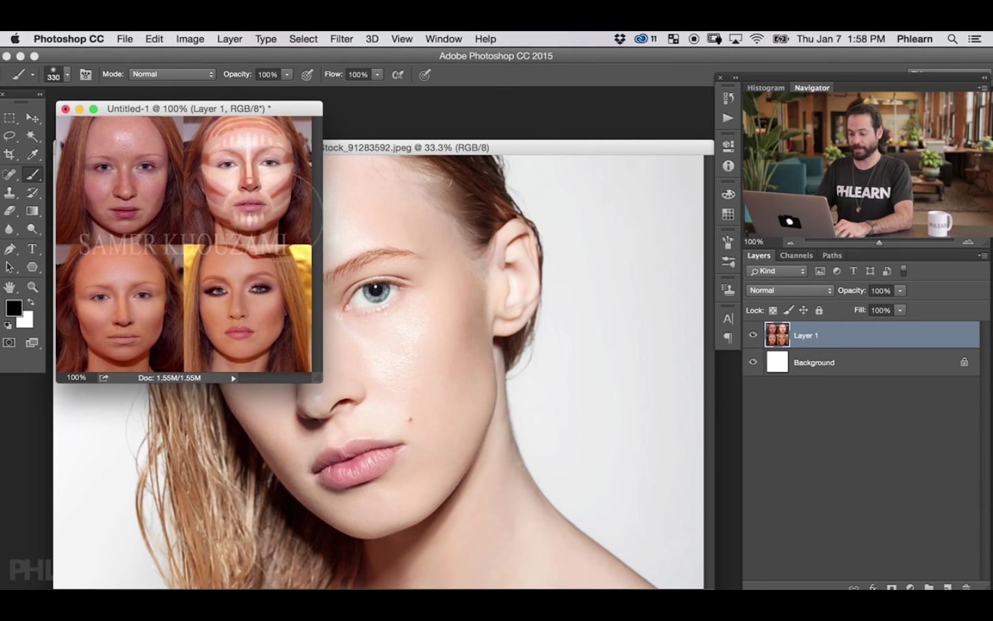 Contour Makeup in Photoshop