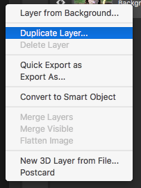 Go to the layer you want to duplicate, Right click > select Duplicate Layer.