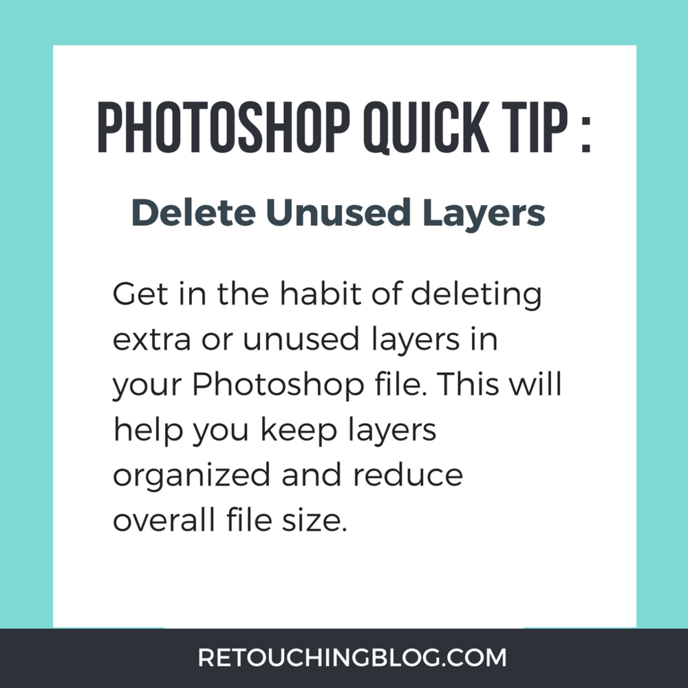 Quick Tip: How To Reduce Photoshop File Size | Retouching Blog